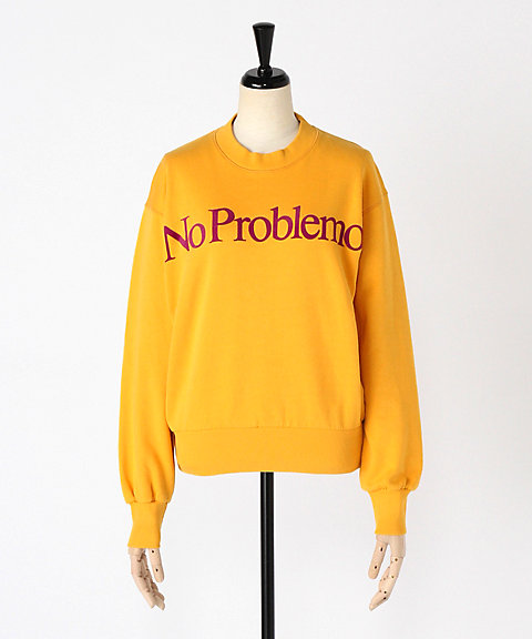 <Aries>No Problemo flocked crew sweat