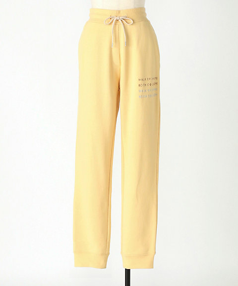 <WALK OF SHAME>YELLOW TRACKSUIT PANTS