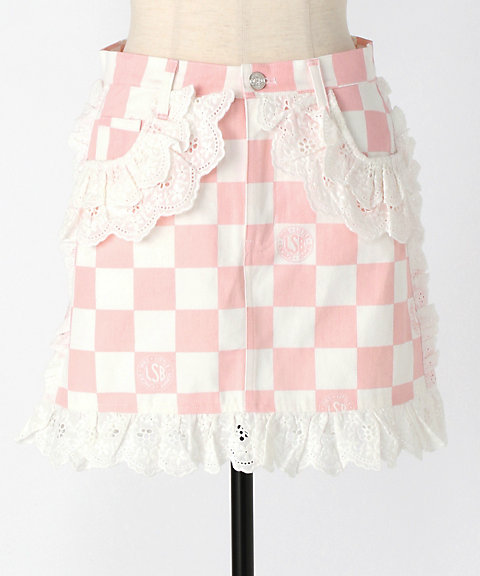 <Little sunny bite>checker lucy skirt