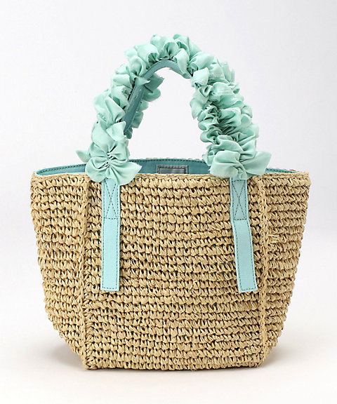 <LUDLOW(Women)>Grape handle tote (Raffia) Ssize