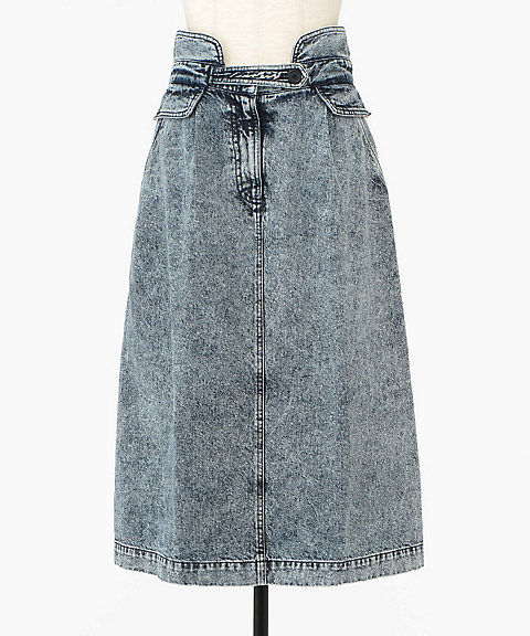 <Sea New York>Jocelyn Acid Wash Denim Skirt