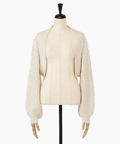 <THE IRON>CABLE KNITTED BOLERO