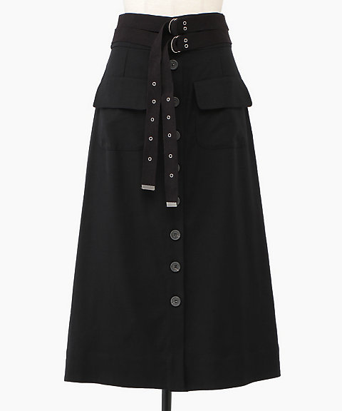 <Sea New York>Kinney Double Belted Cargo Skirt