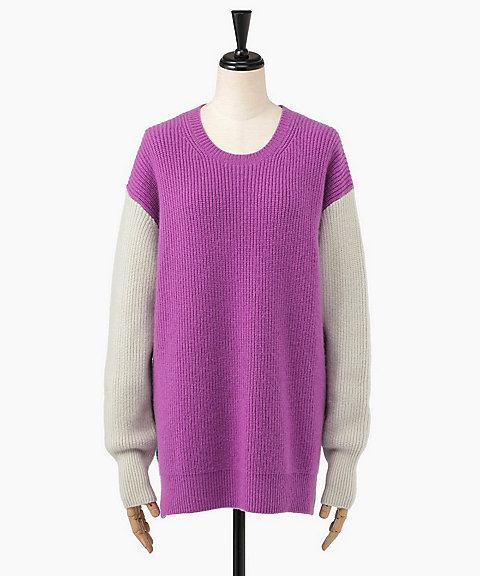 <MYLAN>COLOR BLOCK OVERSIZE KNIT(MY18AW-KR011)