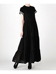 <BORDERS at BALCONY>三越伊勢丹WEB別注 BALLERINA MAXI TEE DRESS(BD1911I-3E-01)