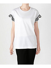 <BORDERS at BALCONY>【三越伊勢丹別注】FLARED SLEEVES TEE(BD1911I-2C-07)