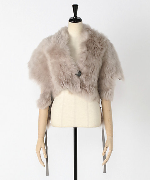 <KARL DONOGHUE>Toscana lambskin adjustable capelet with D-ring