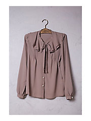 <mille bonheur>double collard bowtie blouse