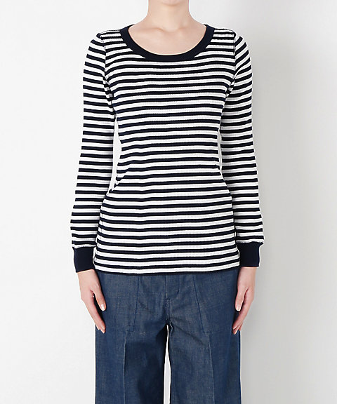 <HYKE>BORDER LONG-SLV TEE(12119)