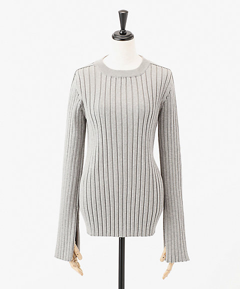<HYKE> WIDE RIB SWEATER(11126)