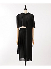 <AKIRA NAKA>Shanti pleats dress(AS1836BK)