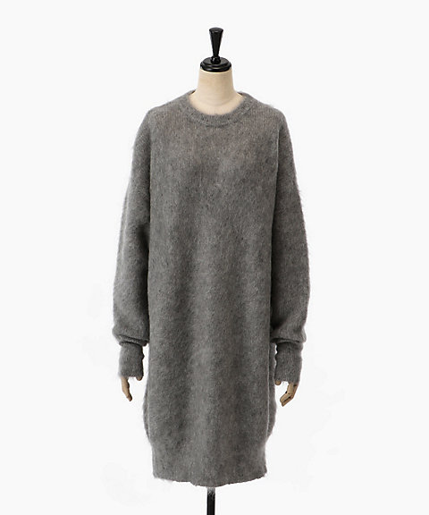 <HYKE>MOHAIR CREWNECK LONG SWEATER(11152)