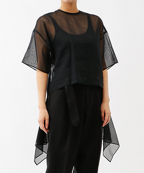 <HYKE>COTTON VOILE TOP(15091)