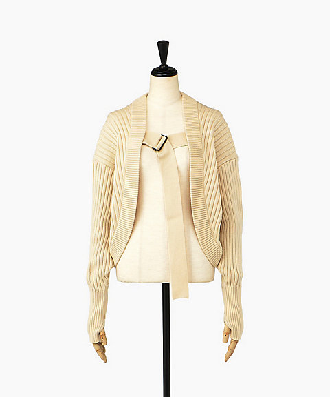 <HYKE>COMMAND SWEATER BOLERO(11180)
