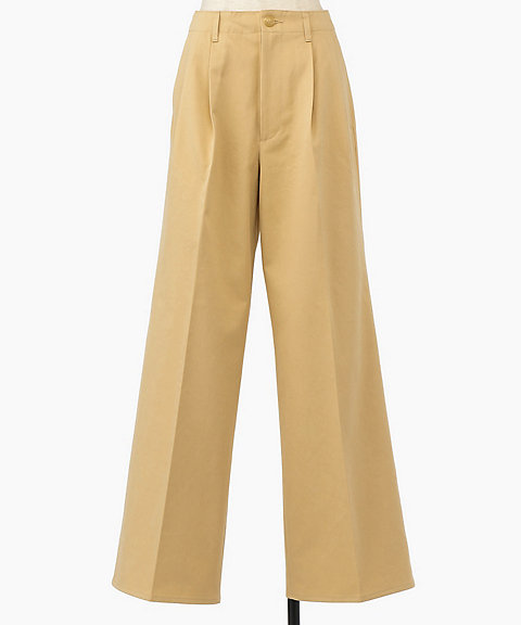 <AURALEE(WOMEN)>WASHED FINX CHINO WIDE TUCK PANTS(A9AP02CN)