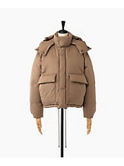 <AURALEE(WOMEN)>LIGHT FINX POLYESTER DOWN JACKET