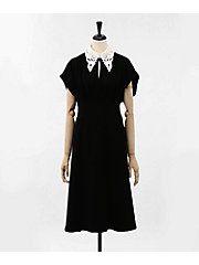 <mame>Silk Lace Collar A-Line Dress(MM18SS-DR003)