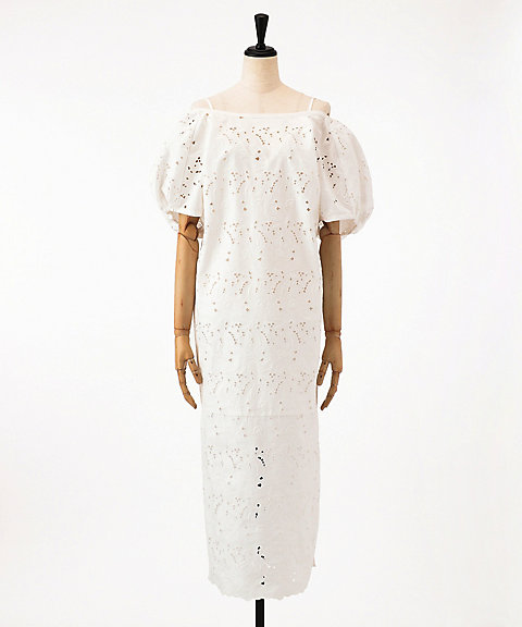 <mame>Floral Cutwork Lace I-Line Dress(MM18SS-DR051)