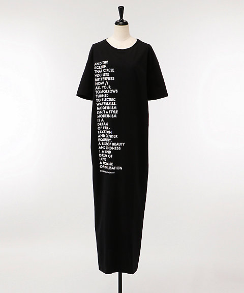 <EACH×OTHER>Poem T-Shirt Dress(SS18G12040)