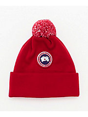 <CANADA GOOSE(KIDS)>ニットキャップ 6948K KIDS MERINO POM TOQUE(KIDS)