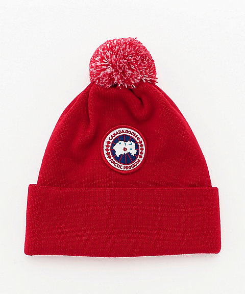 <CANADA GOOSE(KIDS)> ニットキャップ 6948K KIDS MERINO POM TOQUE(KIDS)