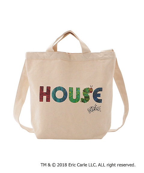 "<IN THE HOUSE> HOUSE ""The Very Hungry Caterpillar"" TOTE BAG"