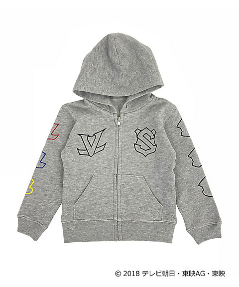<IN THE HOUSE> IN THE HOUSE×<快盗戦隊ルパンレンジャーVS警察戦隊パトレンジャー>ZIP-UP HOODIE(KIDS)