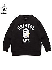 <F.C.Real Bristol>スウェット FCRB-K190023 BAPExFCRB COLLEGE CREW NECK SWEAT(KIDS)