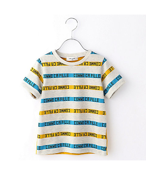 <COMME CA FILLE>ロゴ入り ボーダーTシャツ(0525TL14)