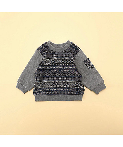 <COMME CA ISM (BABY&KIDS)>フェアアイル トレーナー(80・90サイズ)(2346CN07)