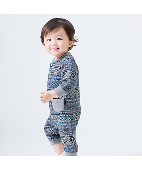<COMME CA ISM (BABY&KIDS)>フェアアイル 長袖ツーウェイオール(2346EN09)