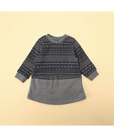 <COMME CA ISM (BABY&KIDS)>フェアアイル 長袖ワンピース(80・90サイズ)(2346ON02)