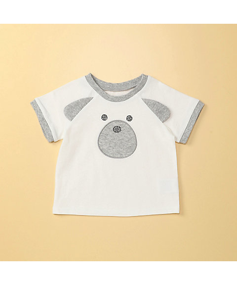 <COMME CA ISM (ベビー&キッズ)>動物アップリケ付き 半袖 Tシャツ(2346TL14)