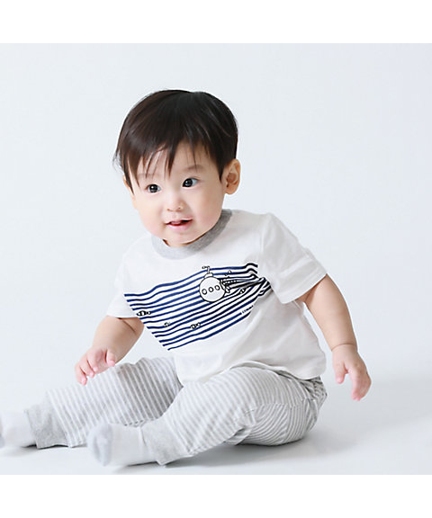 <COMME CA ISM (ベビー&キッズ)>【ギフトセット】男の子用(80・90cm) Tシャツ&パンツセット(2382WL02)