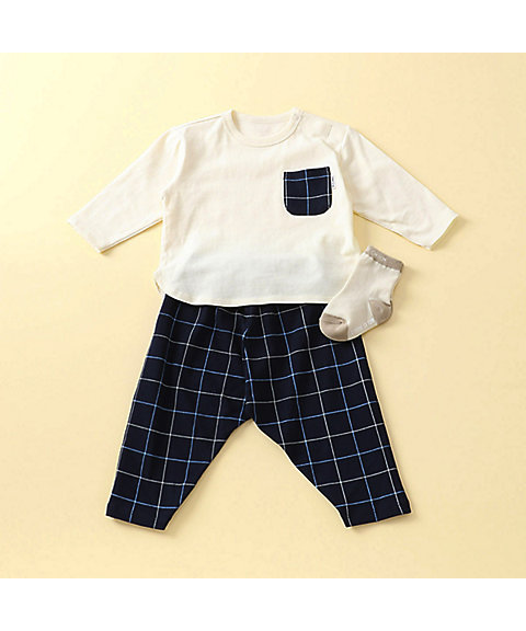 <COMME CA ISM (ベビー&キッズ)>【ギフトセット】男の子用(1・2歳頃) 長袖Tシャツ&パンツ(2383WI05)