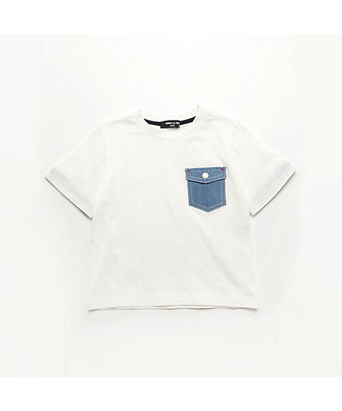 <COMME CA ISM (ベビー&キッズ)>デニムポケット Tシャツ(9841TL03)