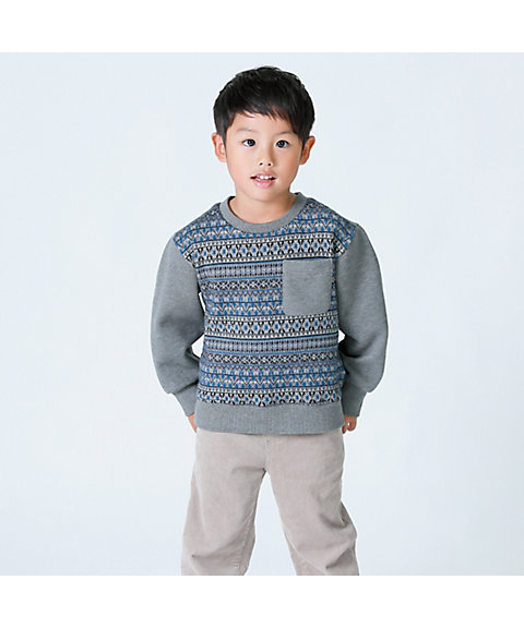 <COMME CA ISM (BABY&KIDS)>フェアアイル トレーナー(9846CN23)