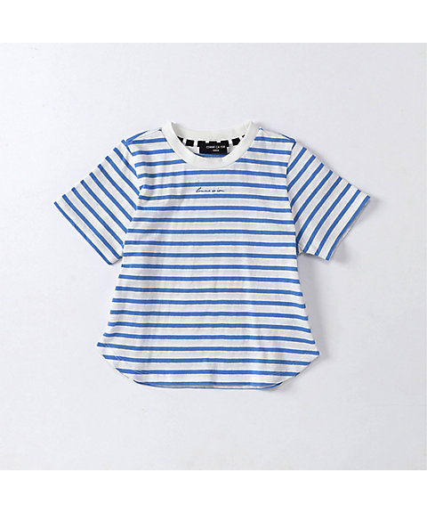 <COMME CA ISM (ベビー&キッズ)>ボーダー半袖 Tシャツ(9861TL07)