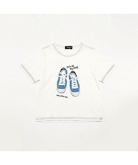 <COMME CA ISM (ベビー&キッズ)>スニーカープリント 半袖Tシャツ(9861TL31)