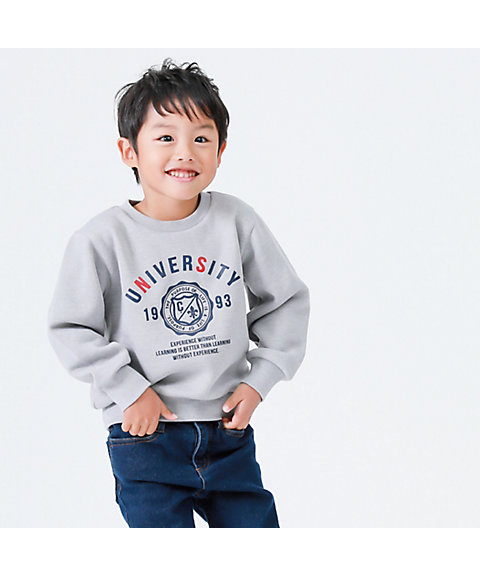 <COMME CA ISM (BABY&KIDS)>カレッジプリント トレーナー(9863CN33)