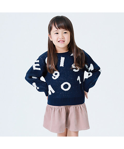 <COMME CA ISM (BABY&KIDS)>ランダムロゴセーター(9872KN07)