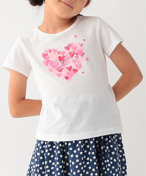 <3CAN4ON(kIDS)>ハートプリントTシャツ(2001527056)