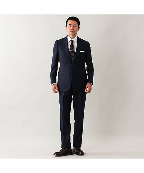 <MACKINTOSH LONDON>【OX BRIDGE】 Loro Piana soft touchストライプスーツ(G1H97804AB)