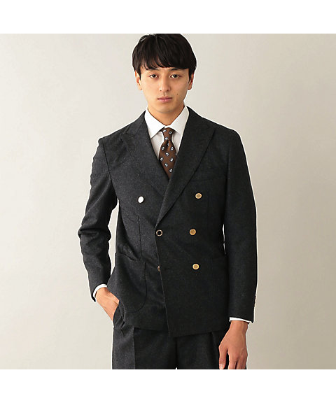 <MACKINTOSH PHILOSOPHY(MEN)>ウールフランネル DOUBLE BRESTED BLAZER(H1E46222R_)