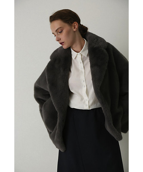 <RIM.ARK>Dolman fake fur coat(460CAL30-0650)