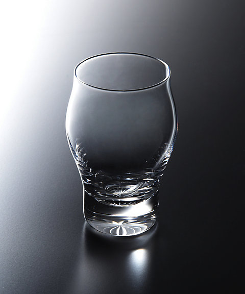<KIMOTO GLASS TOKYO> es sake bottom w/cut