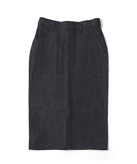 <HYKE>DENIM BAKER SKIRT(14033)