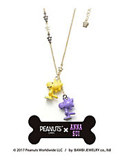 <ANNA SUI>PEANUTS × ANNA SUI ウッドストック&レイモンドネックレス(SATN000560XX)
