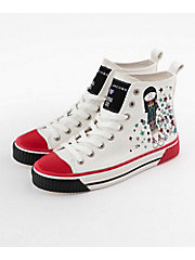 <ANNA SUI>×<MARC JACOBS>LACE UP HIGH TOP SNEAKER(M9002150)