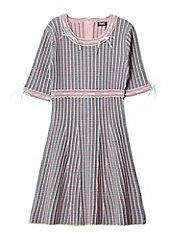 <PAMEO POSE>KITTEN GLITTER STRIPE KNIT DRESS(231810304301)